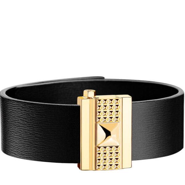 Bracelet femme en cuir noir