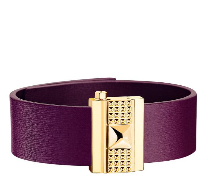 Bracelet femme en cuir violet,personnalisable