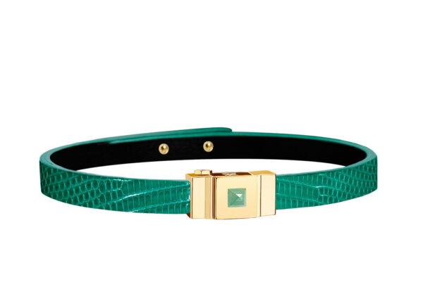 bracelet one lézard vert