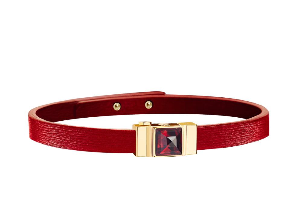 Bracelet one cuir rouge
