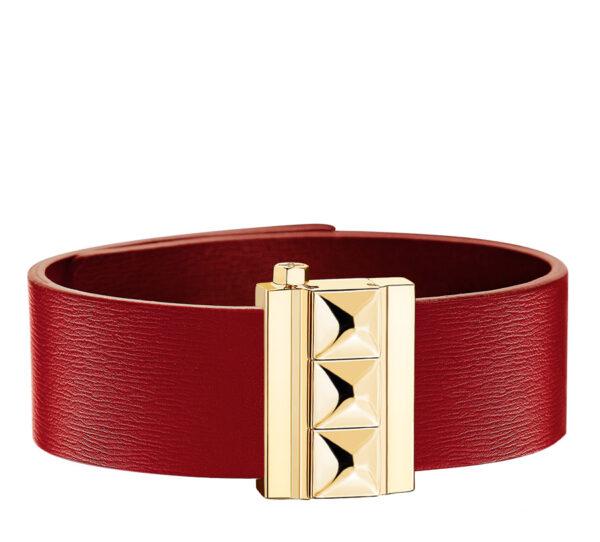 bracelet cuir rouge modele Rock