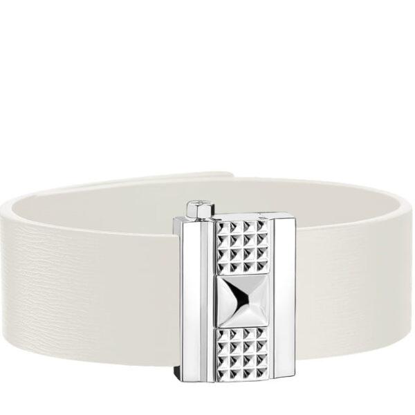 Bracelet femme en cuir blanc