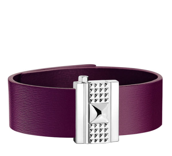 Bracelet femme en cuir violet