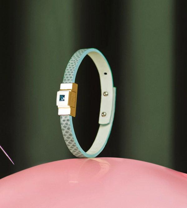 Bracelet femme simple tour vert d'eau