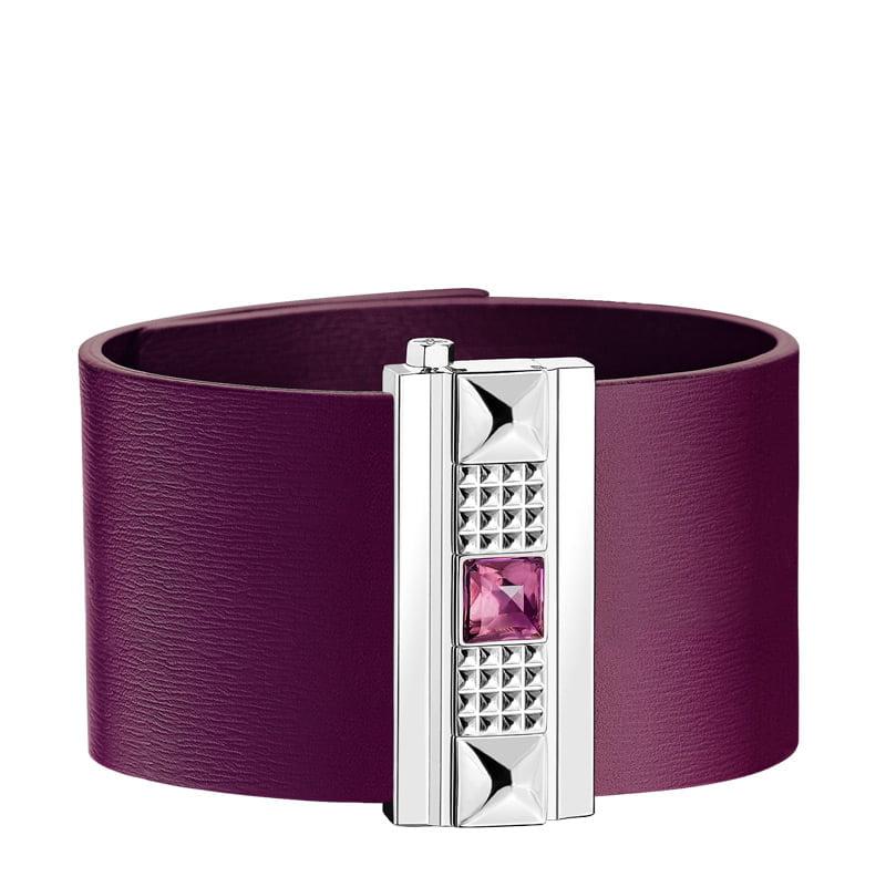 Manchette Femme cuir violet