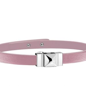 Bracelet femme simple tour en cuir rose