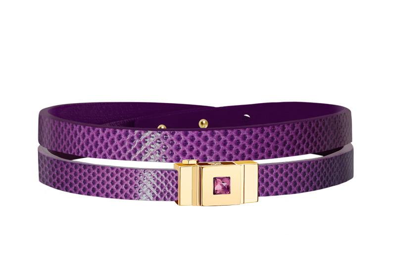 Bracelet femme double tour violet