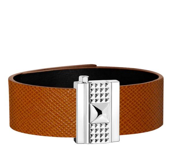 Bracelet homme en cuir camel