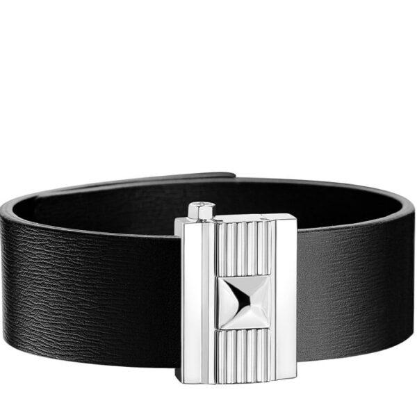 Bracelet homme en cuir noir