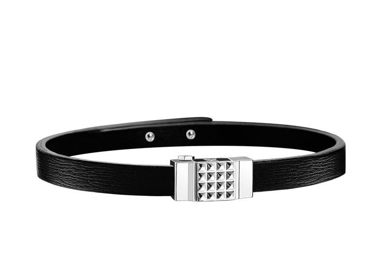 Bracelet homme cuir noir