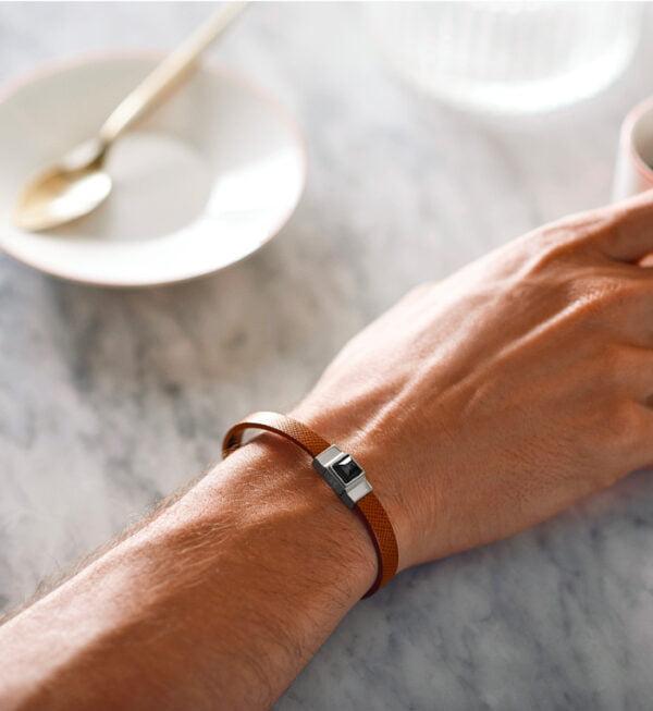 bracelet cuir homme camel