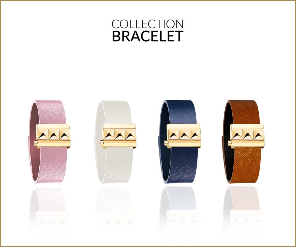Collection bracelet large cuir femme