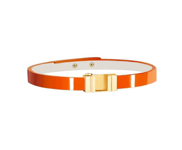 one glossy orange or